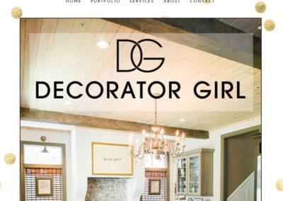 Decorator Girl website screenshot