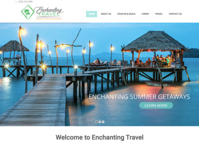 Enchanting Travel website example of good website design