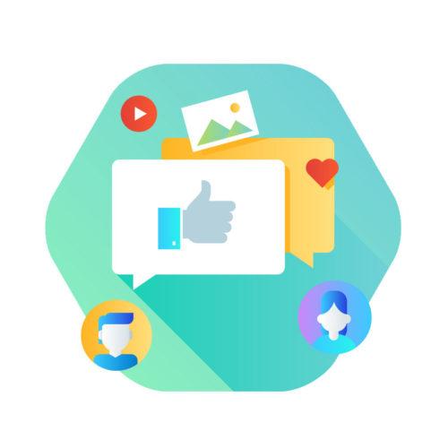 visualization of a Social Media Setup