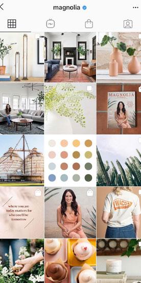 Magnolia Instagram aesthetic